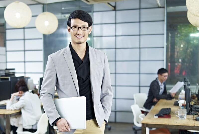 portrait of young asian entrepreneur